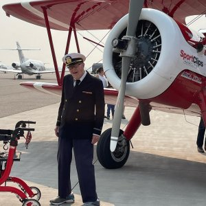 Dream Flights is dedicated to honoring military veterans and seniors with the adventure of a lifetime: a flight in a Boeing Stearman biplane. What an absolute honor it was to be a small part of this wonderful event!! #wwii #veterans #dreamflights